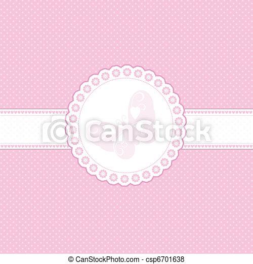 bambino, sfondo rosa - csp6701638