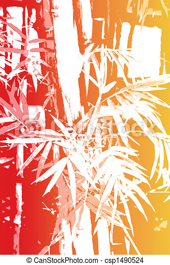 Bamboo Asian Abstract Background Wallpaper
