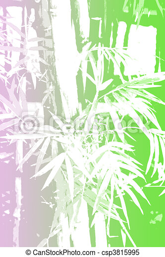 Bamboo Asian Abstract Background Wallpaper In Illustration Form