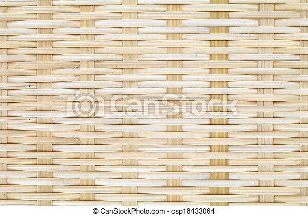 Bamboo basket background - csp18433064