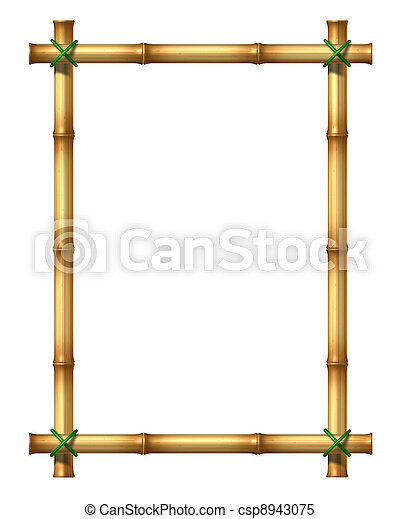 Bamboo blank frame. Bamboo sticks blank frame as an exotic ...