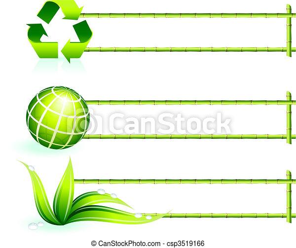 bamboo border elements - csp3519166