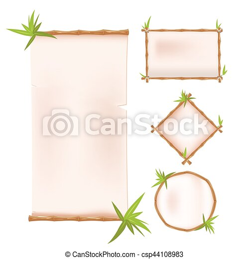 frame design vector.  Design Bamboo Border Frame Template Design Vector Intended