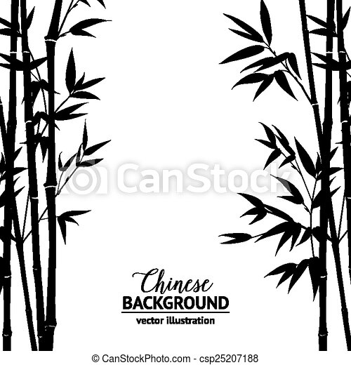 Bamboo bush over white. - csp25207188