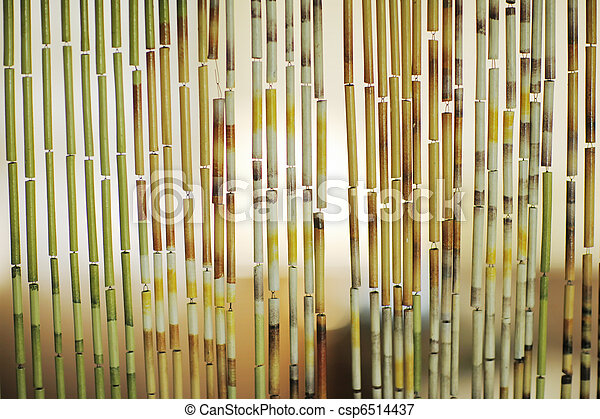 Bamboo curtain background - csp6514437