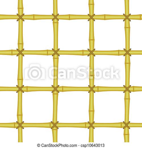 bamboo grating, lattice seamless background - csp10643013