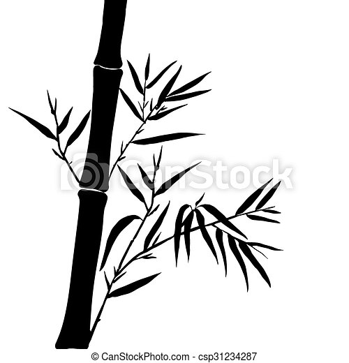 bamboo leaf background the top of the bamboo the top of vector rh canstockphoto com