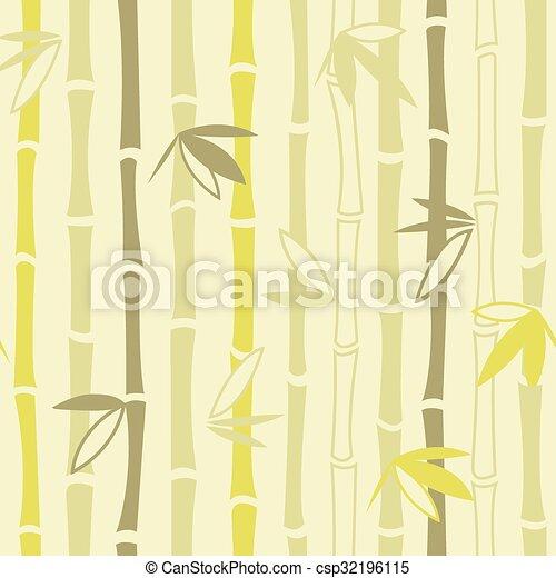 Bamboo ornament seamless pattern - csp32196115