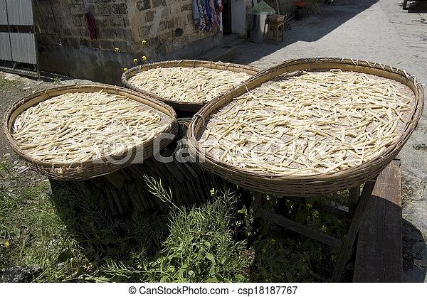 Bamboo shoots drying at Hongcun - csp18187767
