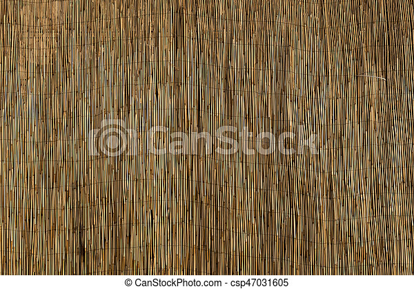 Bamboo Sun Shade Close Up for Backgrounds - csp47031605