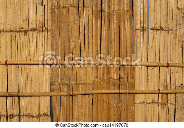 Bamboo wall surface.  - csp14197070