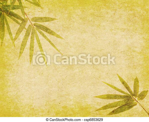 bambus, gemälde, o, chinesisches , tinte - csp6853629