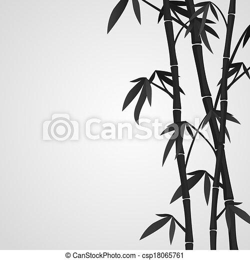 bambus, hintergrund, stämme - csp18065761