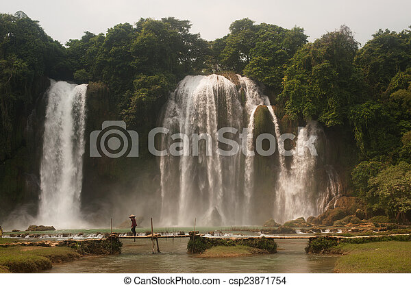 Ban Gioc waterfall in Vietnam. - csp23871754