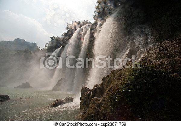 Ban Gioc waterfall in Vietnam. - csp23871759