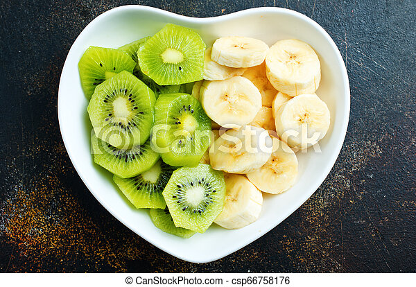 banana and kiwi - csp66758176