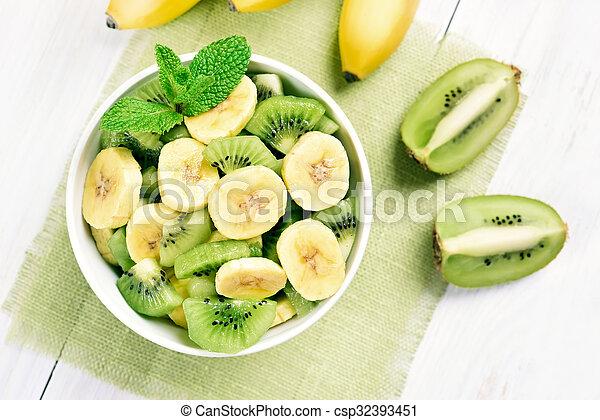 Banana and kiwi salad - csp32393451