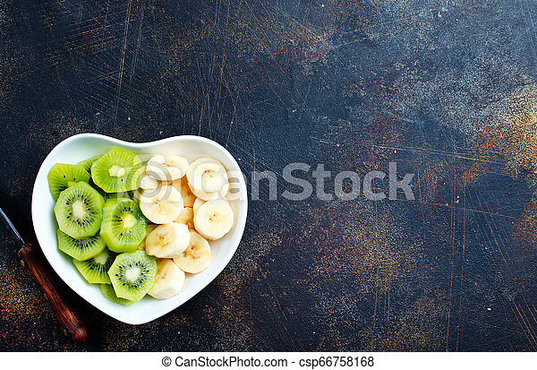 banana and kiwi - csp66758168