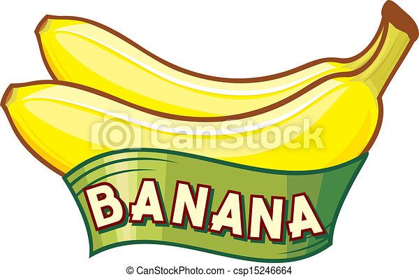 banana, etichetta - csp15246664