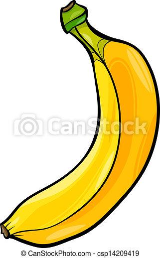 banana fruit cartoon illustration - csp14209419