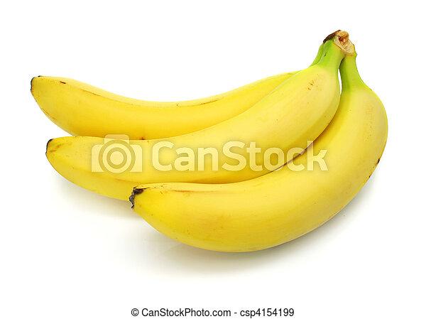 banana fruits isolated on white background - csp4154199