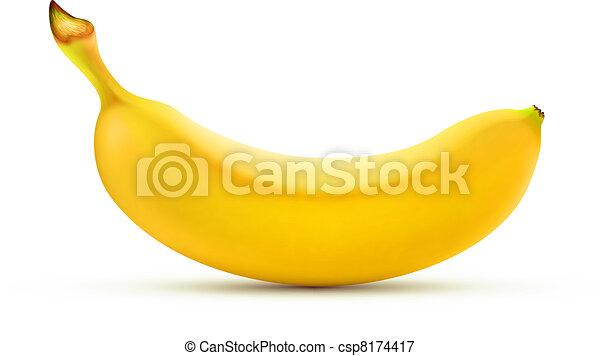 banana, giallo - csp8174417