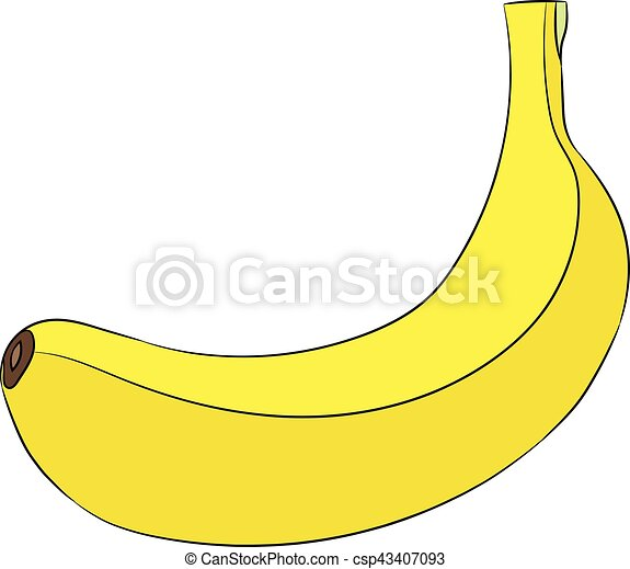 Banana Isolated On White Background Of Vector Illustrations