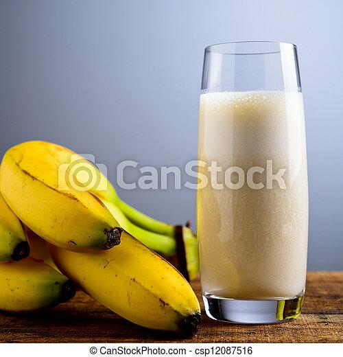 banana milkshake - csp12087516
