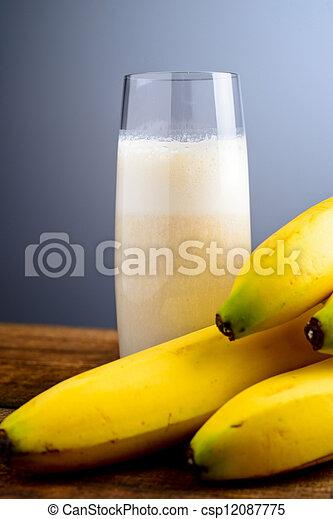 banana milkshake - csp12087775