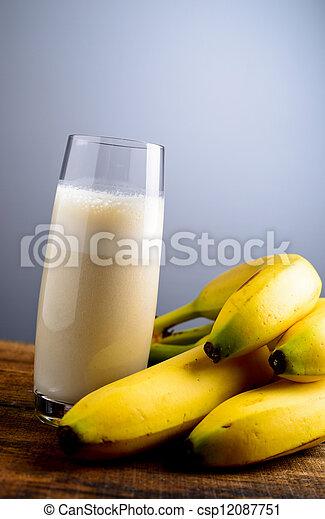 banana milkshake - csp12087751