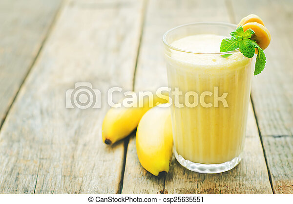 banana milkshake  - csp25635551