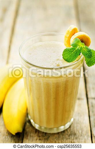 banana milkshake - csp25635553