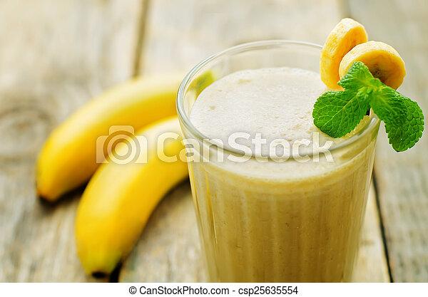 banana milkshake  - csp25635554