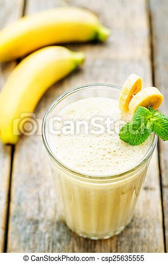 banana milkshake  - csp25635555