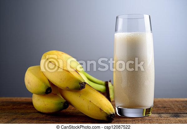 banana milkshake - csp12087522