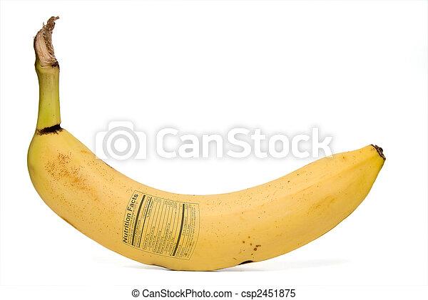 Banana Nutrition Facts - csp2451875
