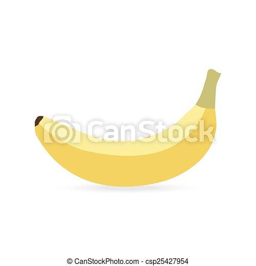 banana on a white background - csp25427954