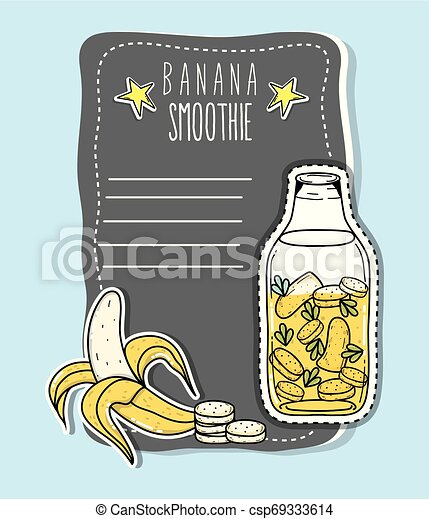 Banana smoothie juice - csp69333614