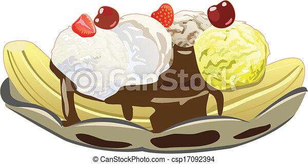 banana split banana split with three ice cream scoops rh canstockphoto com banana split clipart free Banana Splits Cartoon