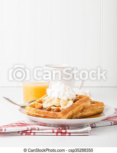 Banana Waffles - csp35288350