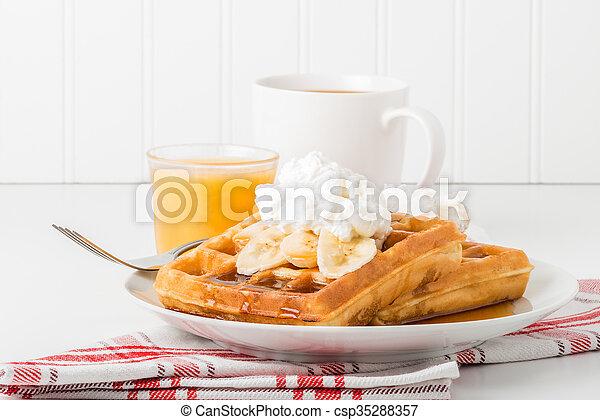 Banana Waffles - csp35288357