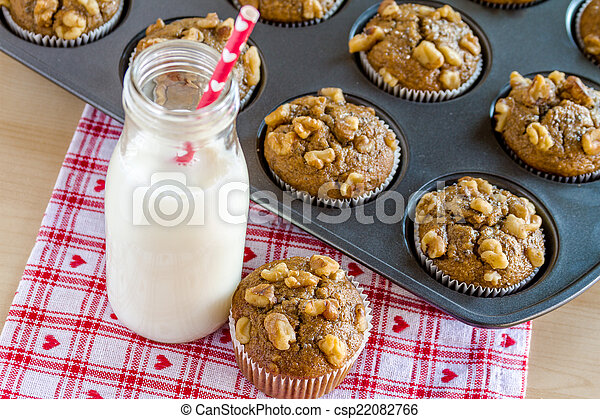 Banana Walnut and Chia Seed Muffins - csp22082766