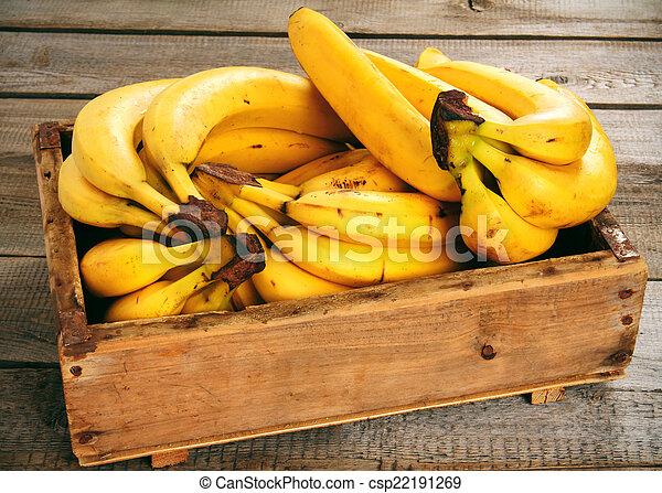 Bananas in a box - csp22191269