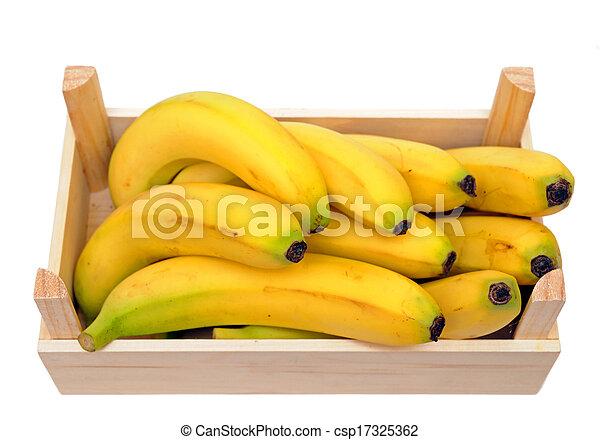 bananas in crate - csp17325362
