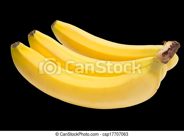 Bananas on a black background - csp17707063
