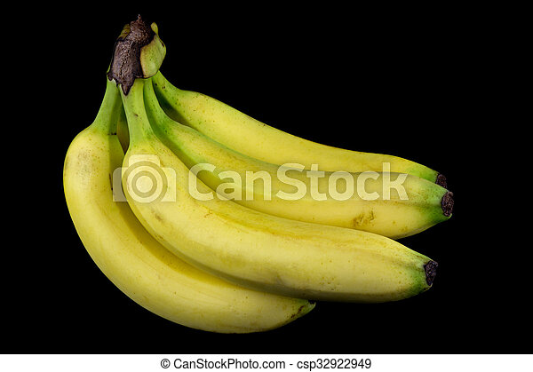 Bananas on a Black Background - csp32922949