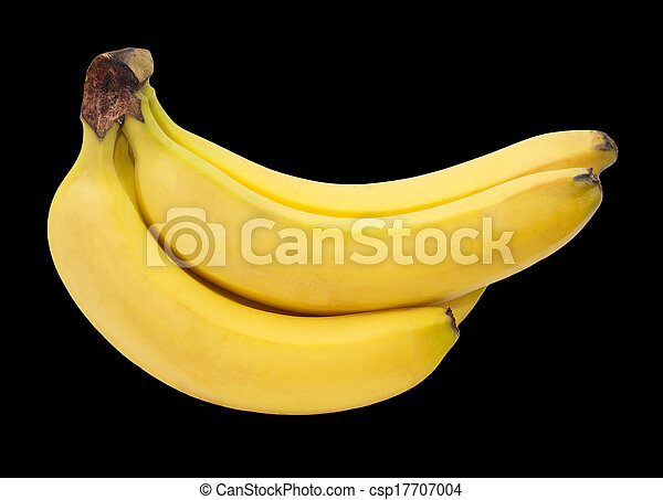 Bananas on a black background - csp17707004