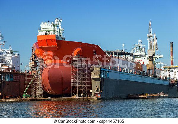banc prévenus sec, pétrolier - csp11457165