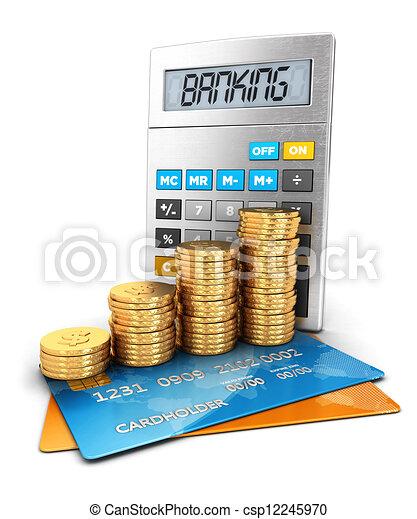 Un concepto bancario en 3D - csp12245970
