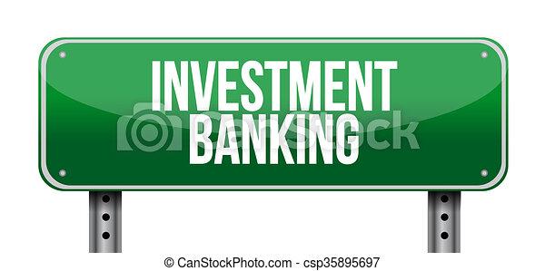 Inversiones bancarias concepto de señal de carretera - csp35895697